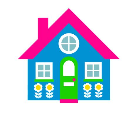 Spring house clipart freeuse download Blue house clipart clip art library – Gclipart.com freeuse download