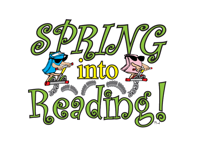 Spring into reading clipart image stock Spring into Reading | Lackawanna County Library System image stock