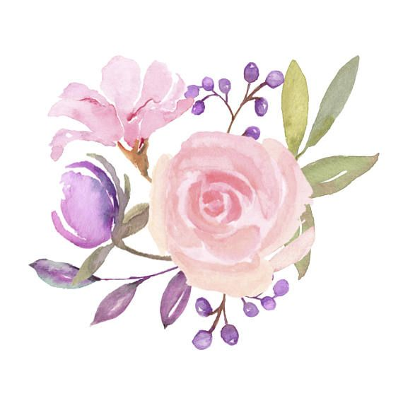 Spring time flowers clipart clip art royalty free stock Fresh Springtime Flowers in Purple, Pink and Lavender ... clip art royalty free stock