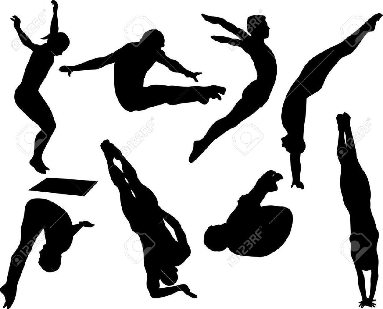 Springboard diver clipart clip free stock high diver silhouette - Google Search   Tattoos ... clip free stock