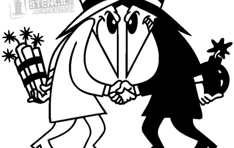 Spy vs spy clipart jpg royalty free library Spy Vs Spy Stencils | Stencil Revolution jpg royalty free library