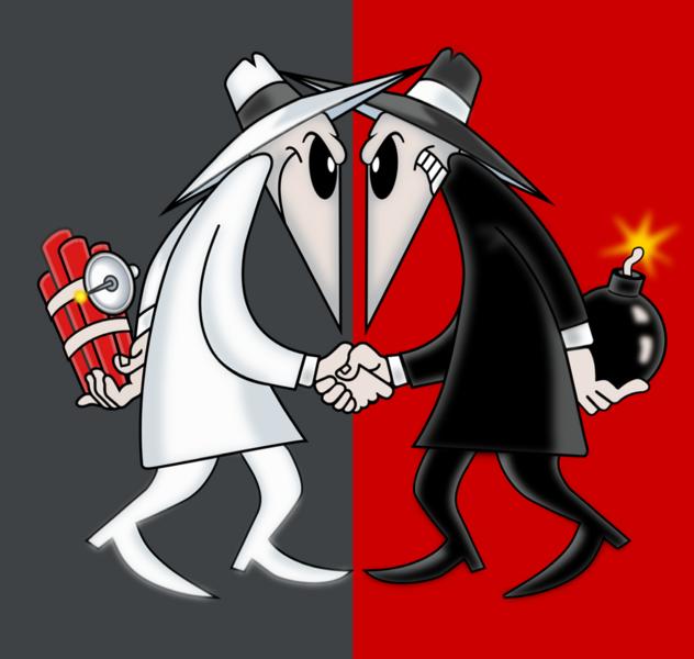 Spy vs spy clipart banner black and white library Spy-VS-Spy – POWER OF POP banner black and white library