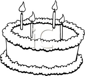 Sqaure cookie cake clipart black and white banner transparent download Birthday Cake Clipart Black And White | Clipart Panda - Free ... banner transparent download