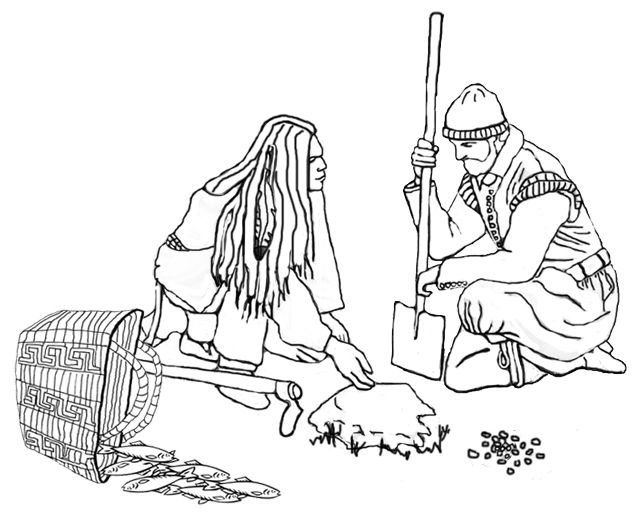 Squanto clipart black and white stock It is interesting to look at the progression from ... black and white stock