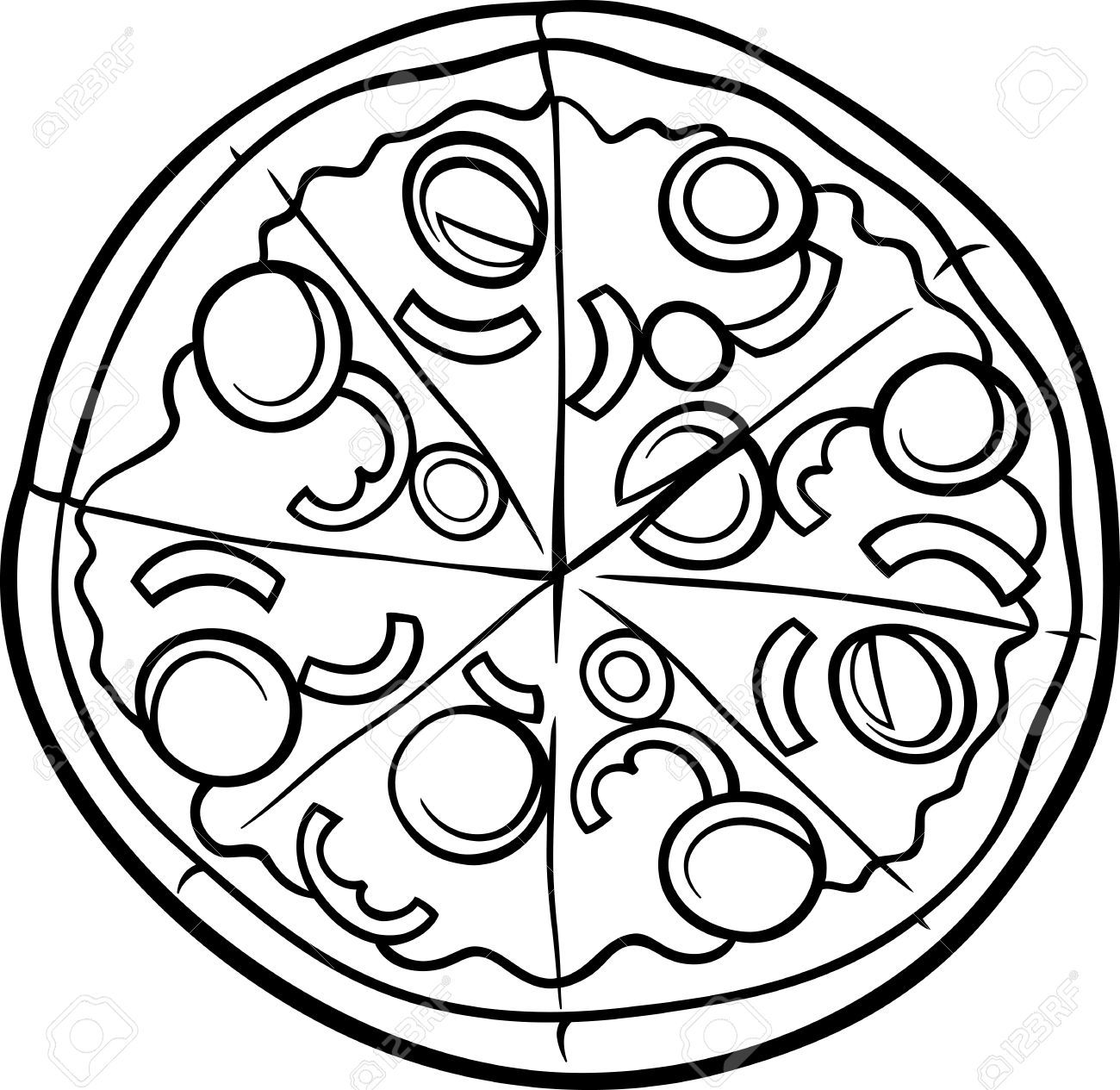 Square pizza clipart picture royalty free library Free Clip art of Pizza Clipart Black and White #453 Best ... picture royalty free library