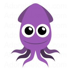 Squid images clipart graphic royalty free download Cute squid clipart from Adorabletoon.com | under the sea ... graphic royalty free download