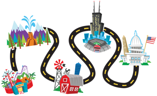 Squiggly road map clipart clip art Simple road map clipart - ClipartFox clip art