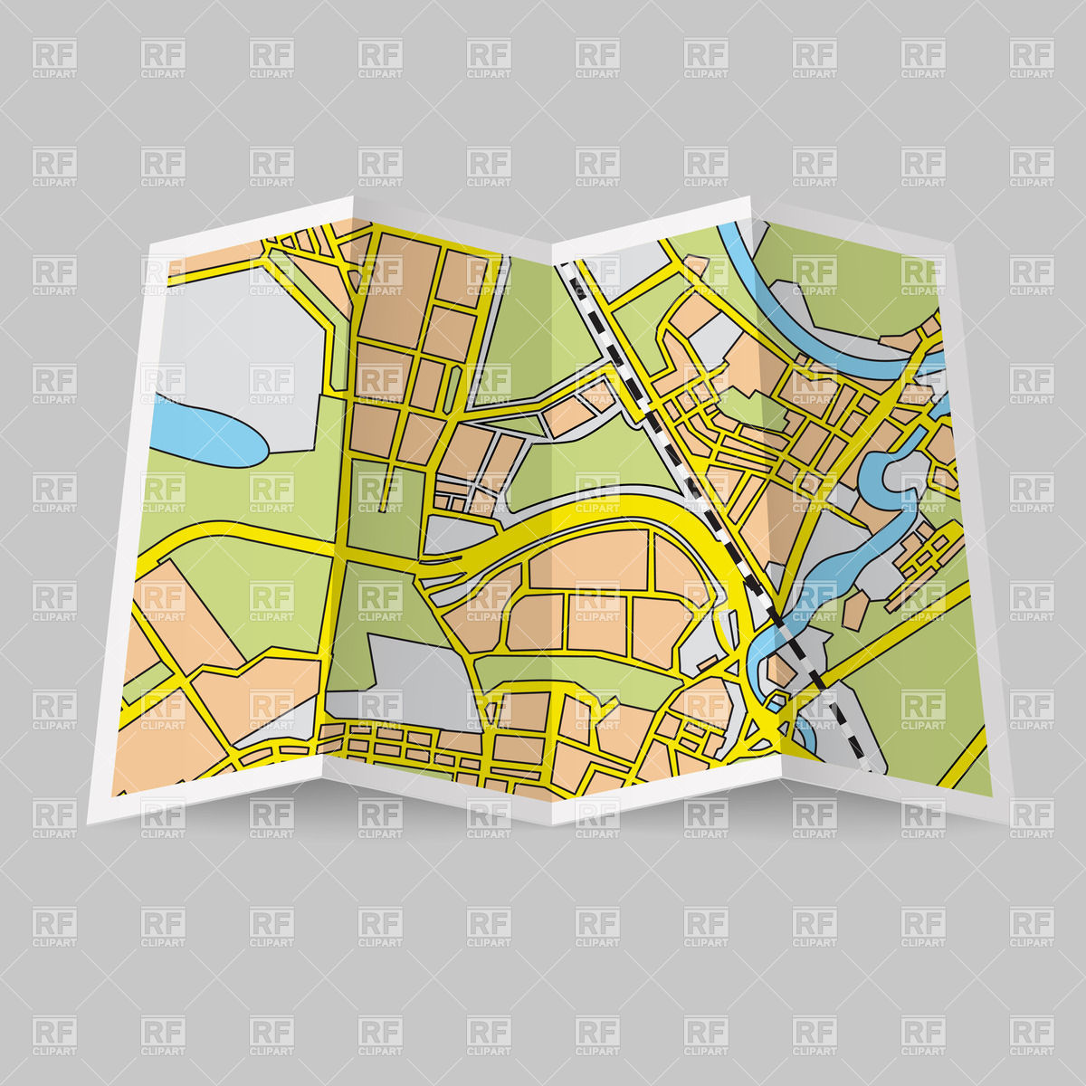 Squiggly road map clipart transparent Map roads clipart - ClipartFest transparent