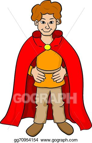 Squire clipart image black and white download EPS Vector - Squire with red cape. Stock Clipart ... image black and white download