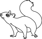 Squirrel clipart black and white jpg library download Squirrel Clip Art Black And White | Clipart Panda - Free ... jpg library download