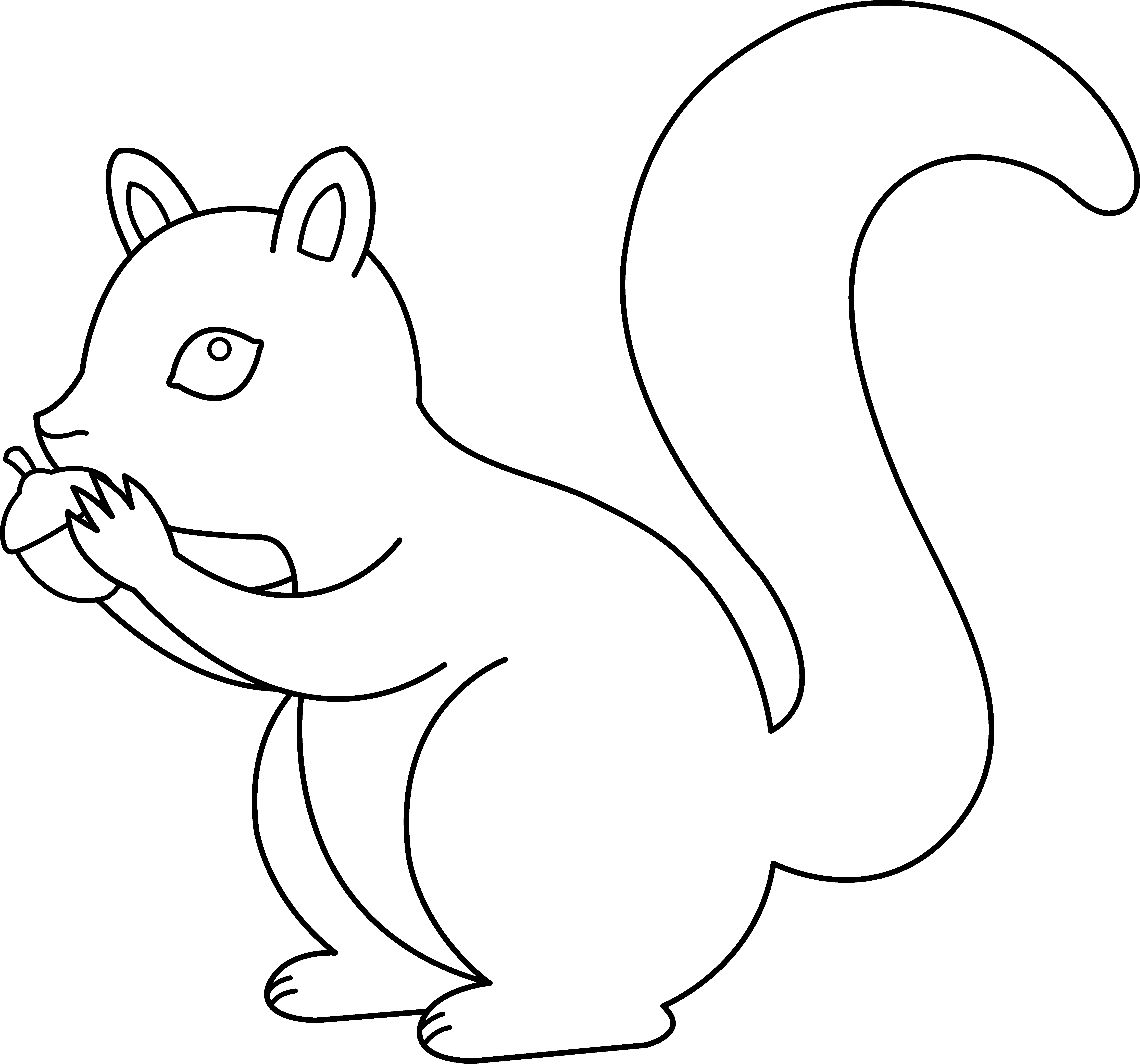 Squirrel in snow clipart black and white picture transparent download HD Acorn Clipart Fox Squirrel - Squirrel In Snow Clipart ... picture transparent download