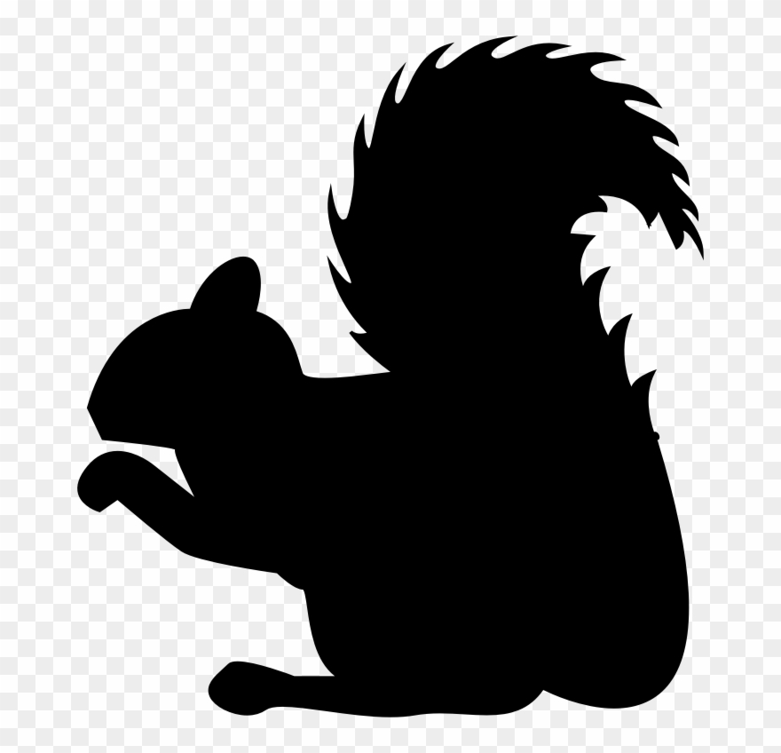 Squirrel silhouette clipart banner royalty free Clipart Squirrel Profile Silhouette Clip Art Of Squirrel ... banner royalty free