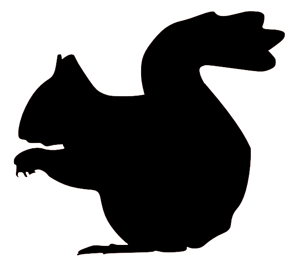 Squirrel silhouette clipart svg transparent library Best Squirrel Silhouette #7580 - Clipartion.com svg transparent library