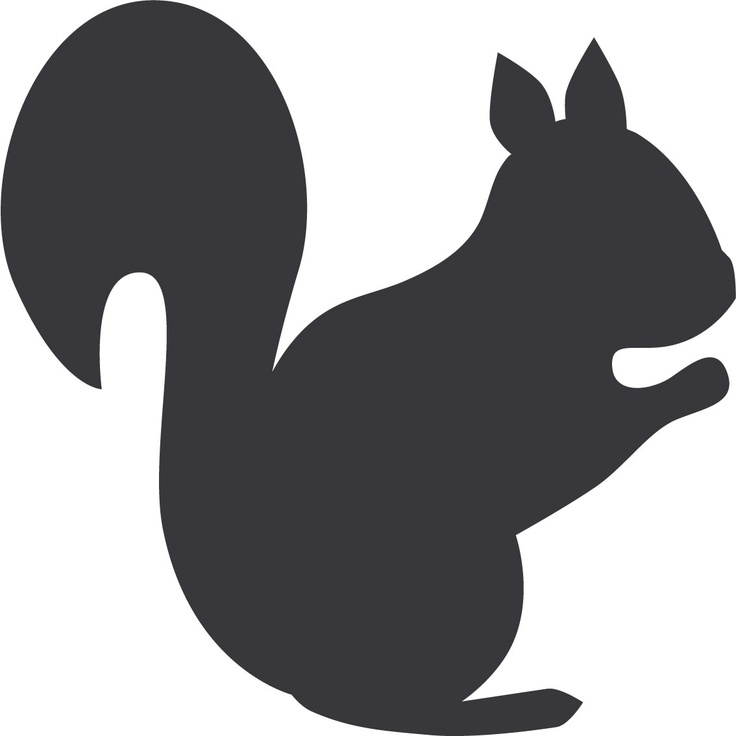 Squirrel silhouette clipart png stock Best Squirrel Silhouette #7578 - Clipartion.com png stock