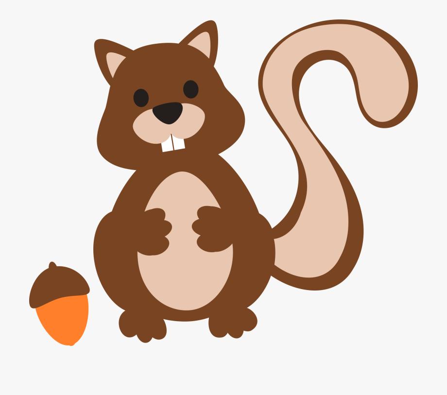 Squirrel with acorn clipart vector transparent Clipart Squirrel Acorn Silhouette - Cartoon #99350 - Free ... vector transparent