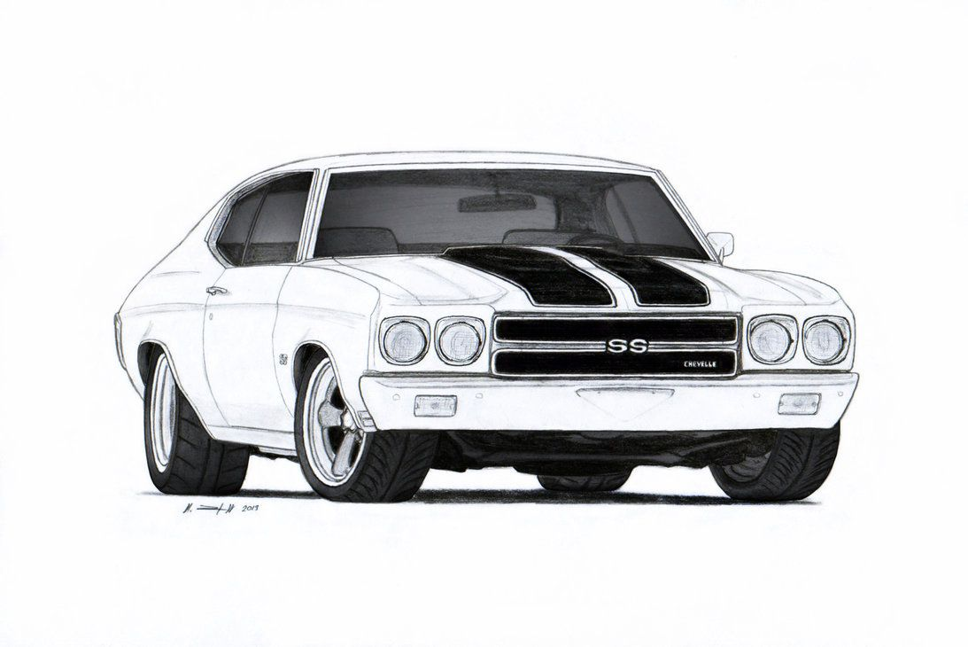 Ss chevelle 1969 clipart image library stock 1970 Chevrolet Chevelle SS Pro Touring Drawing by ... image library stock
