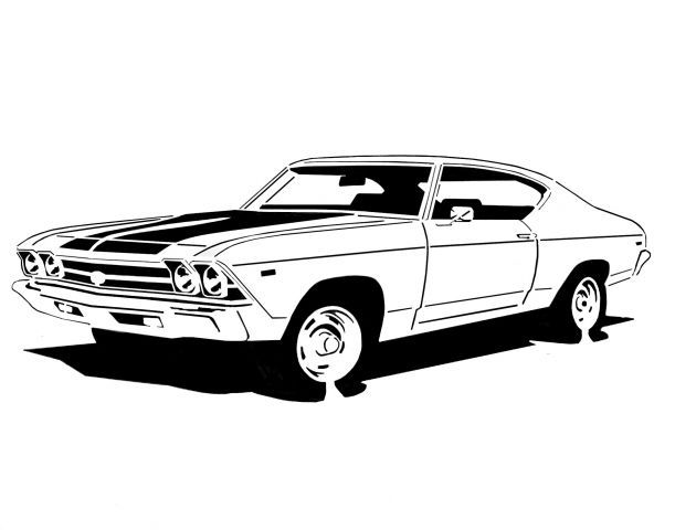 Ss chevelle 1969 clipart vector black and white library 1969 Chevelle SS \