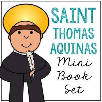 St aquinas clipart graphic royalty free stock Saint Thomas Aquinas Biography Mini Book in 3 Formats, Catholic Resource graphic royalty free stock