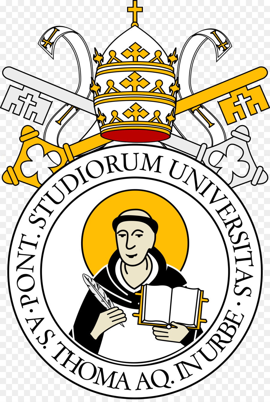 St aquinas clipart library Yellow Background clipart - University, Yellow, Text ... library