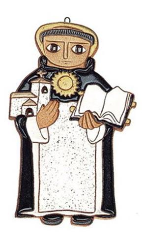 St aquinas clipart vector black and white library Saint Andrew\'s Abbey Ceramics St Thomas Aquinas Plaque vector black and white library