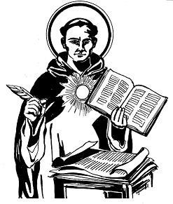St aquinas clipart picture black and white stock saint thomas aquinas coloring pages | On the Feast of St ... picture black and white stock