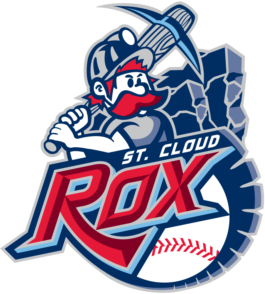 St cloud clipart clipart black and white download St. Cloud Rox Primary Logo - Northwoods League (NWoodsL ... clipart black and white download