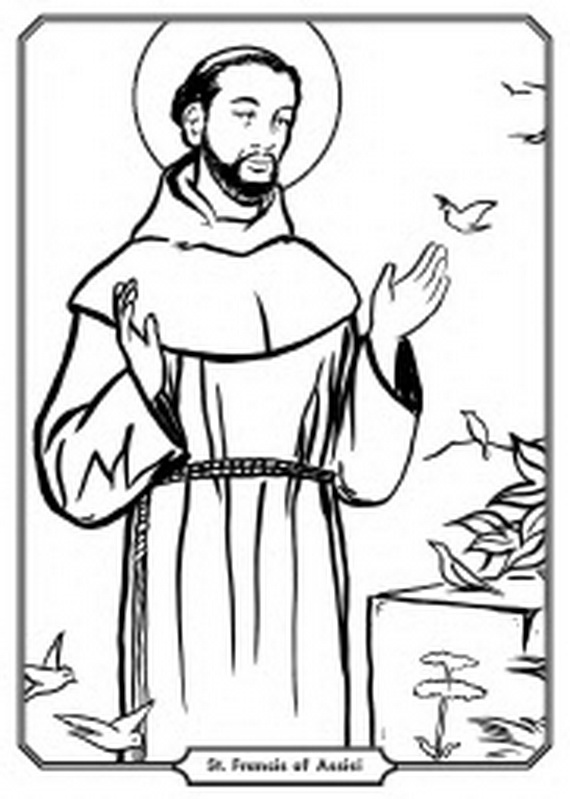 St francis of assisi clipart banner black and white St Francis Of Assisi Sketch at PaintingValley.com | Explore ... banner black and white
