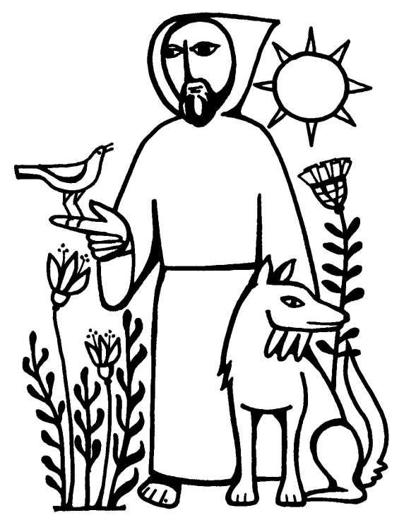 St francis of assisi clipart banner black and white Francis of assisi coloring page # Pinterest++ for iPad ... banner black and white