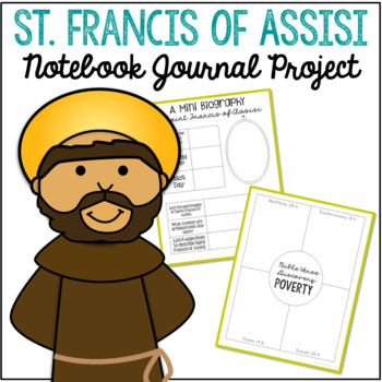 St francis of assisi clipart clip freeuse stock Saint Francis of Assisi Notebook Journal Project, Catholic Resources clip freeuse stock
