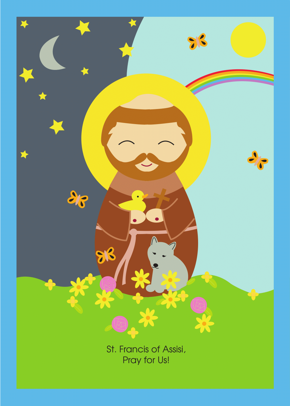 St francis of assisi clipart picture freeuse stock Saint Francis of Assisi Print picture freeuse stock