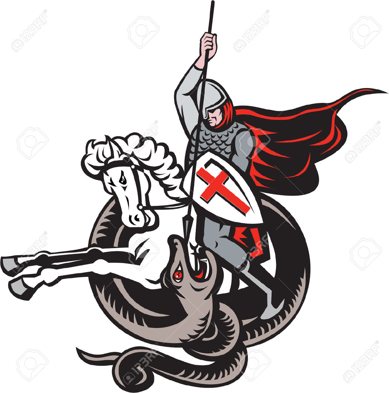 St george and the dragon clipart png free stock St George Dragon Images & Stock Pictures. #62201 ... png free stock