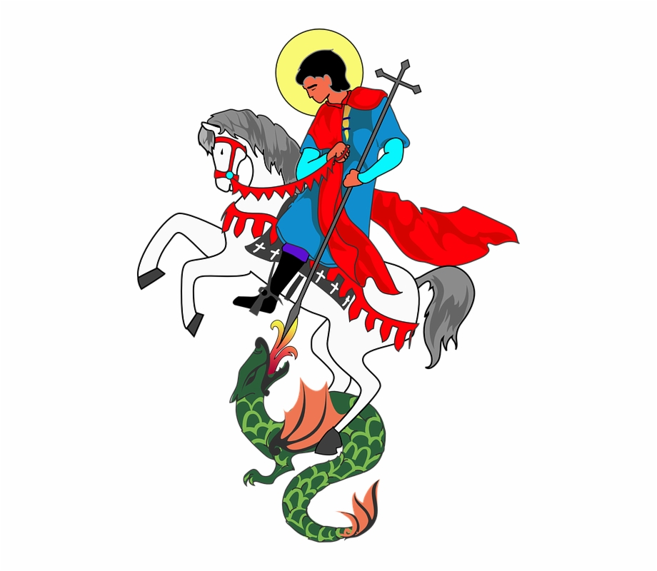 St george and the dragon clipart svg black and white stock Dragon Saint George Cross - St George And The Dragon Clipart ... svg black and white stock