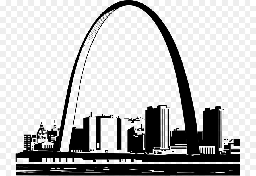 St louis arch clipart free banner black and white download Gateway Arch Skyline png download - 792*619 - Free ... banner black and white download
