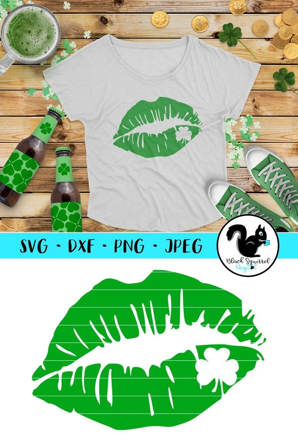 St paddy s day t shirt clipart jpg banner free download St. Patrick\'s Day Lips SVG cutting file for Silhouette ... banner free download