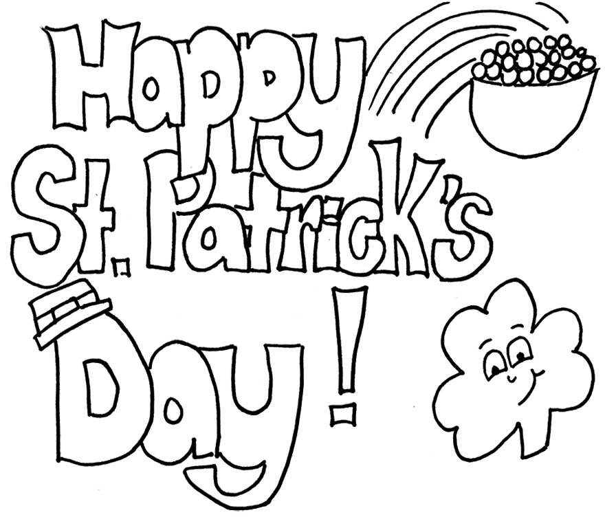 St particks day clipart black and white banner free download Black and white st patricks day clipart 2 » Clipart Station banner free download