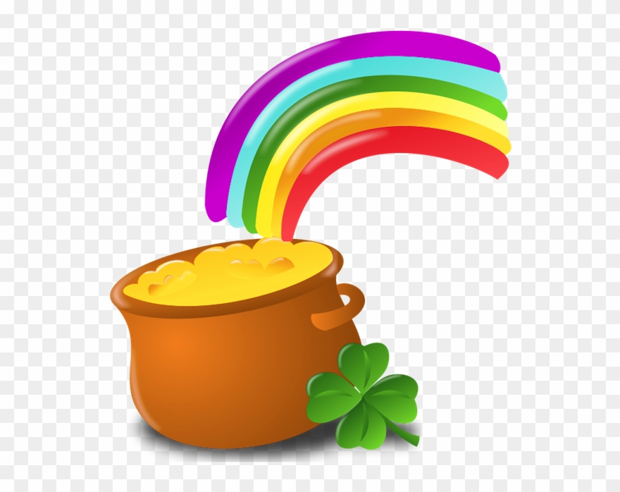 St patty-s day free clipart png free stock St Patrick Pot Of Gold With Rainbow Png Picture ... png free stock