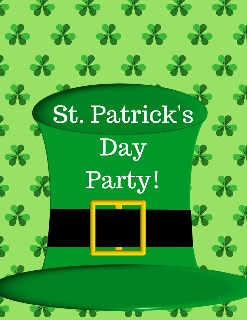St patrick-s day 2018 clipart clip art black and white download St. Patrick\'s Day Party! | The Field Library clip art black and white download