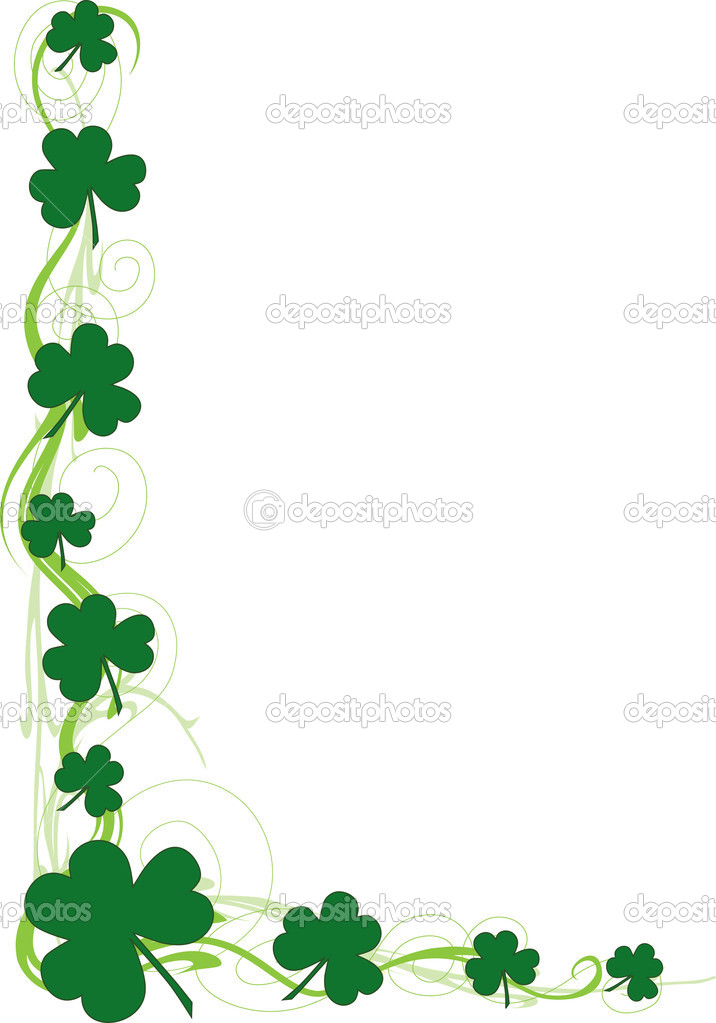 March border clipart black & white clipart clip art royalty free library St Patricks Day Border | Free download best St Patricks Day ... clip art royalty free library