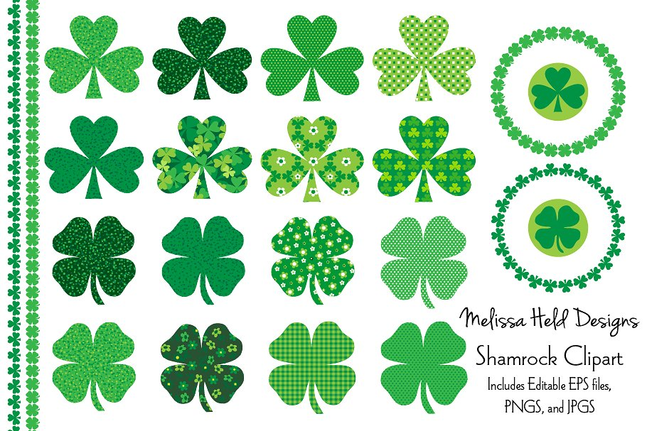 St patricks day shamrock clipart graphic black and white stock St. Patricks Day Shamrock Clipart graphic black and white stock