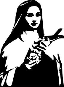 St therese clipart clipart black and white Sainttherese Clip Art at Clker.com - vector clip art online ... clipart black and white