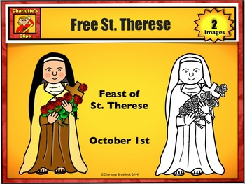 St therese clipart image black and white library Free St. Therese Clip Art from Charlotte\'s Clips image black and white library