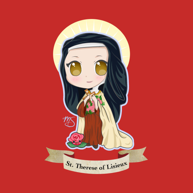 St therese clipart banner transparent stock Chibi St. Therese of Lisieux banner transparent stock