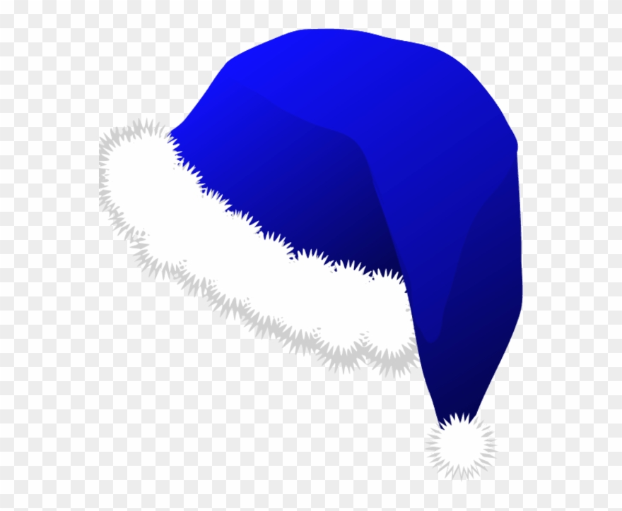 Sta clipart png black and white stock Blue Santa Claus Clipart - Blue Santa Hat Png Transparent ... png black and white stock