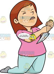 Stab clipart clipart library A Female Trying To Stab A Knife Into Her Chest clipart library