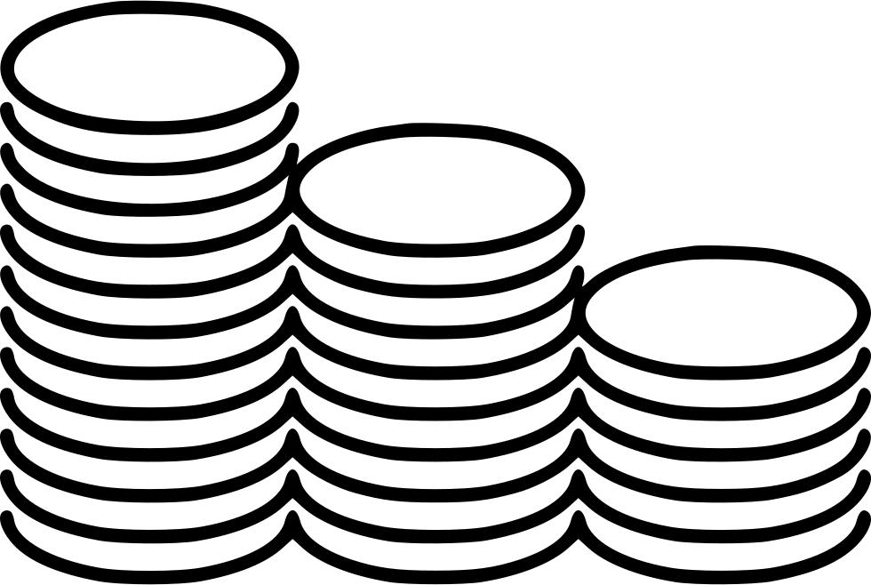 Stack bag of money clipart svg file clip transparent download Coins Stacks Svg Png Icon Free Download (#559421) - OnlineWebFonts.COM clip transparent download