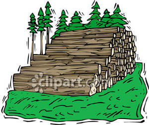 Stack cruiser clipart free library Big Stack of Felled Trees - Royalty Free Clipart Picture free library