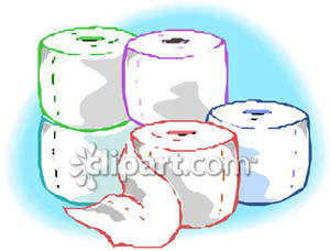 Stack cruiser clipart graphic free download A Stack of Five Toilet Paper Rolls - Royalty Free Clipart ... graphic free download