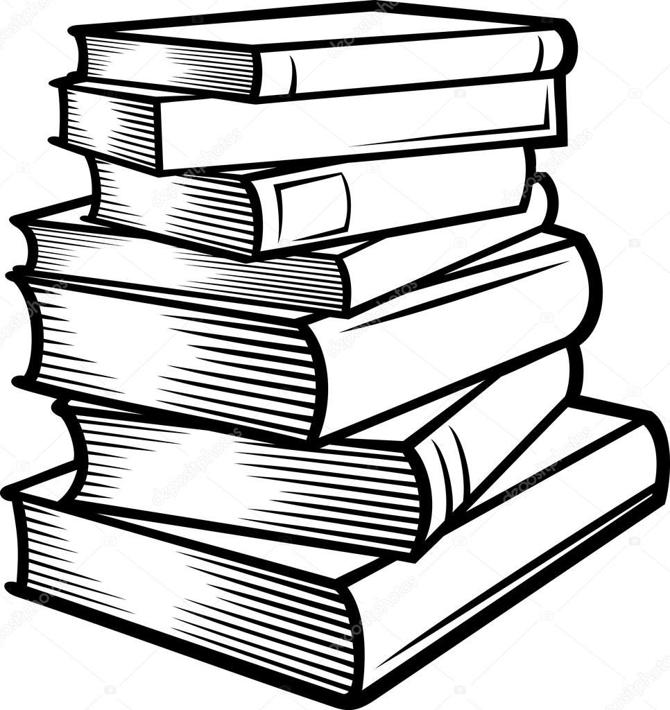 Stack of books spine clipart black and white png library download Stack of books (books stacked) | Books Worth Reading | Book ... png library download