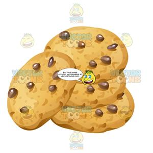 Stack of cookies clipart picture library download Stack Of Chocolate Chip Cookies picture library download
