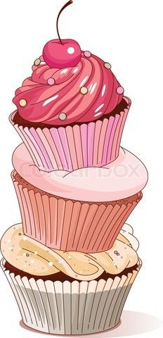 Stack of cupcakes clipart black and white image free Pyramid of cupcakes\' #clipart #patterns #colored ... image free